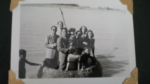 Mr. Lawee's father's family rafting on the Tigris River in the 1950's.